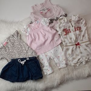 Juicy baby Girls out fit mixed set of 5